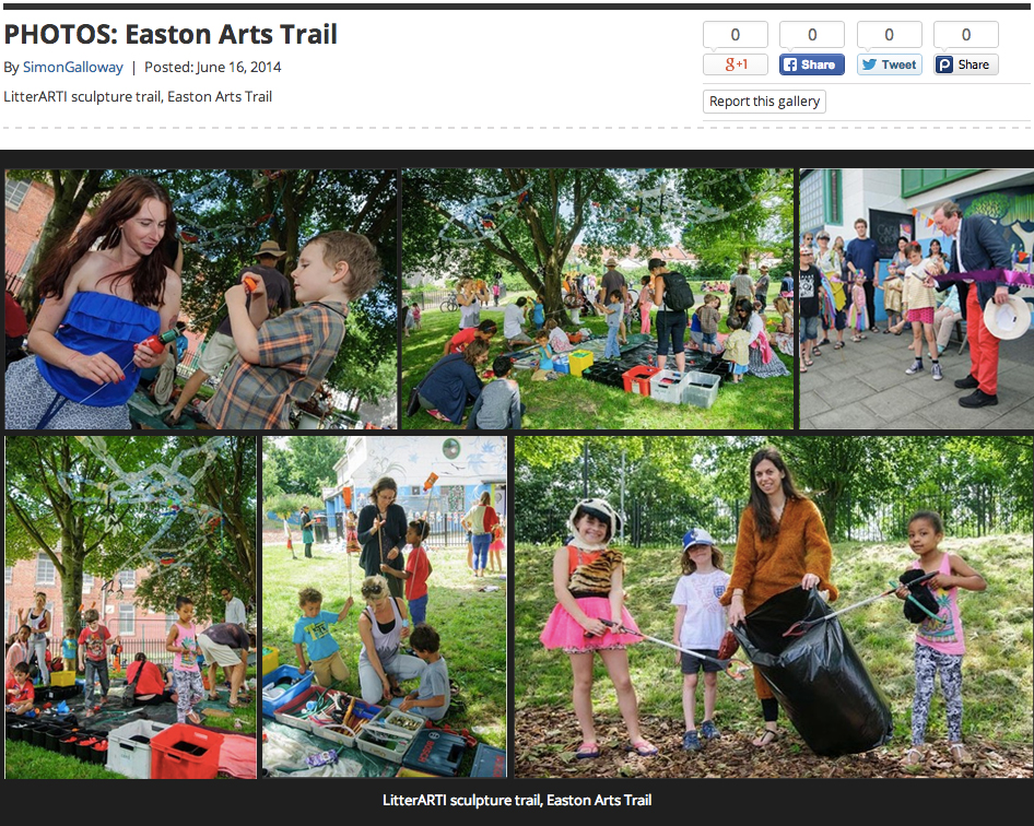 Bristol Post Article about the Easton Arts Trail in 2014