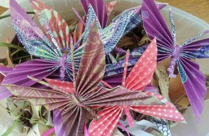 Beautiful butterfly origamis made be Grace Engel