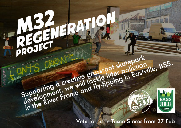 Litterarti M32 Regeneration Project supported by Tesco's Bags of Help fund from the 5p Plastic bag charge