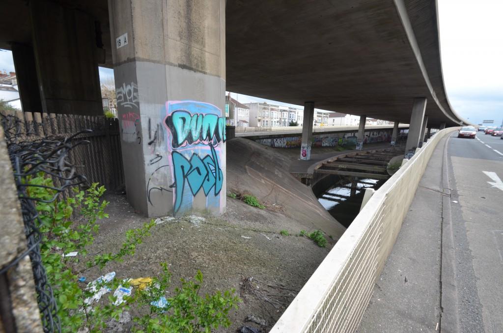 M£2 Underpass. Eastville. Bristol. BS5.  England.