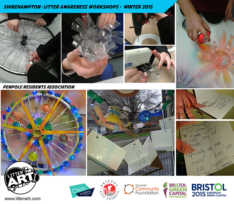 Litter-Awareness Workshops in Shirehampton with Oasis Academy Brightstowe.
