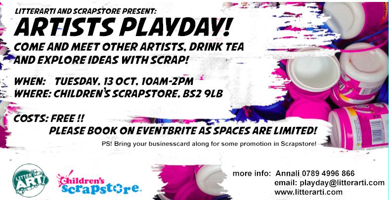 Artists Playday with LitterARTI at Children's Scrapstore