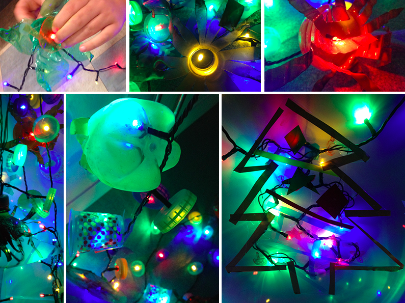 XMas Lights LitterARTI made with Seamills Youth Club